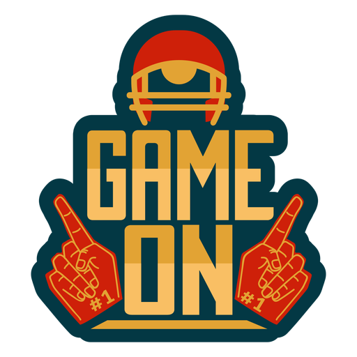 Game on lettering Transparent PNG