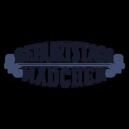 Geburtstags Madchen-Schriftzug