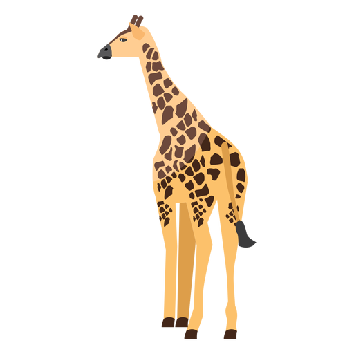 Giraffe rear view flat Transparent PNG