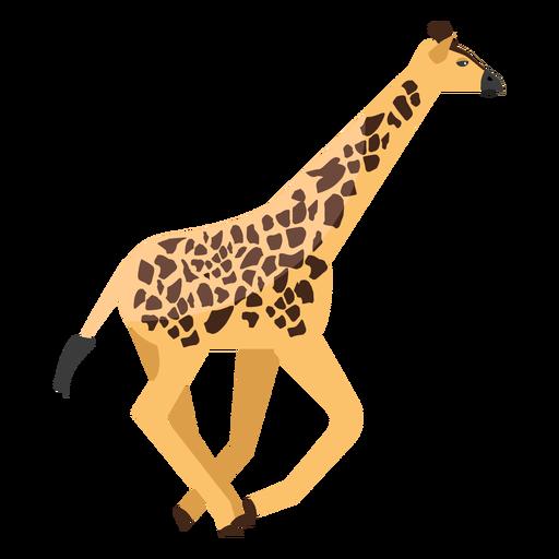 Giraffe running flat Transparent PNG