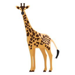 Giraffe side view flat