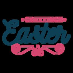 Greetings easter lettering