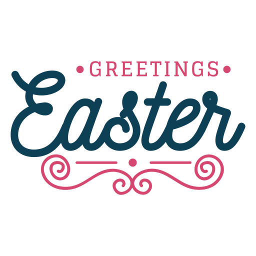 Greetings easter lettering Transparent PNG