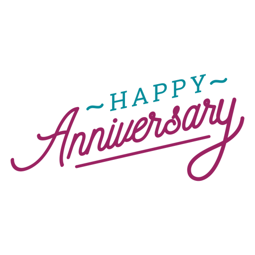 Happy anniversary lettering Transparent PNG