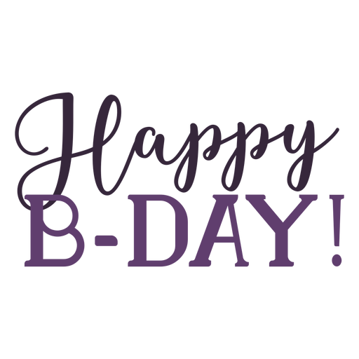 Happy bday lettering Transparent PNG