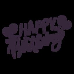 Feliz cumpleaños globos letras
