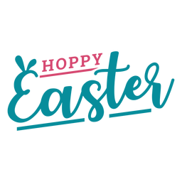 Happy easter bunny ears lettering