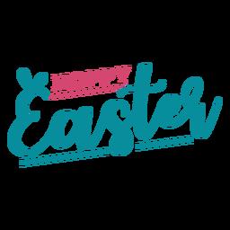 Orelhas de coelho de Páscoa feliz lettering