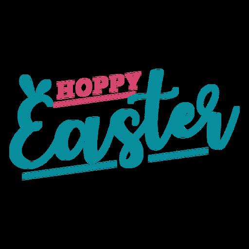 Letras de orejas de conejo de pascua feliz Transparent PNG