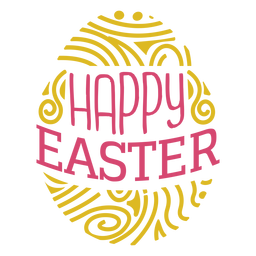 Happy easter egg lettering