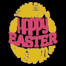 Happy Easter Egg-Schriftzug
