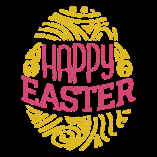 Happy easter egg lettering Transparent PNG