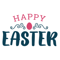 Happy easter greeting lettering