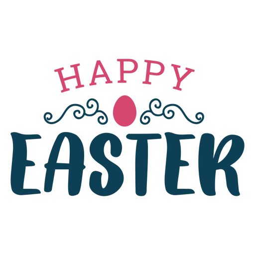 Happy easter greeting lettering Transparent PNG