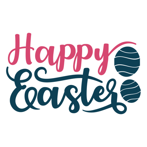 Happy easter handwritten lettering - Transparent PNG & SVG vector file