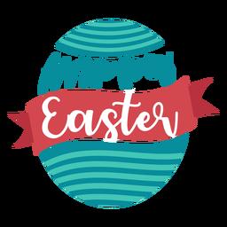 Feliz Pascua cinta huevo letras