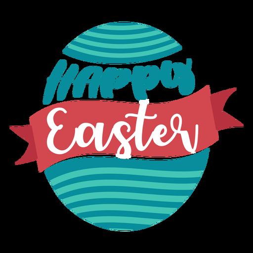Feliz Páscoa fita ovo rotulação Transparent PNG