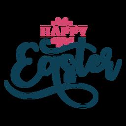 Fröhliche Ostern wirbelt die Beschriftung