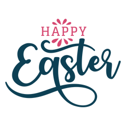 Happy easter swirls lettering