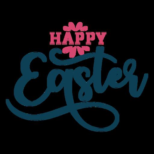 Feliz Páscoa redemoinhos letras Transparent PNG