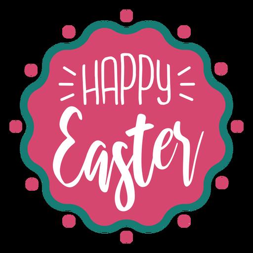 Feliz Pascua letras insignia ondulada Transparent PNG