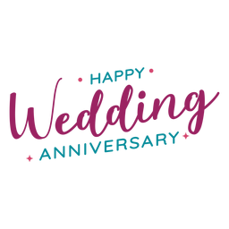Happy wedding anniversary lettering