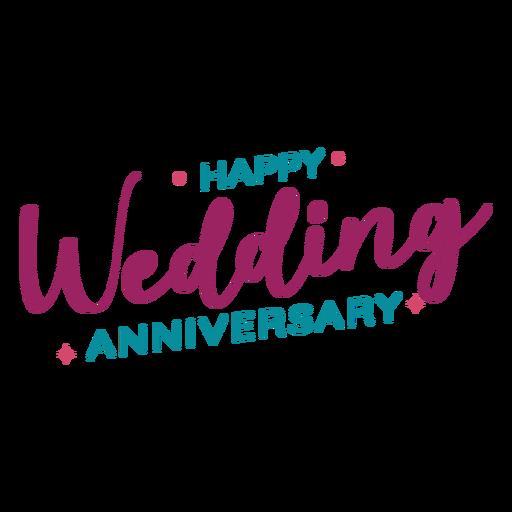 Letras de aniversario de boda feliz Transparent PNG