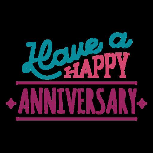 Tener un feliz aniversario de letras Transparent PNG