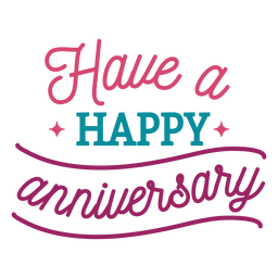 Have happy anniversary lettering