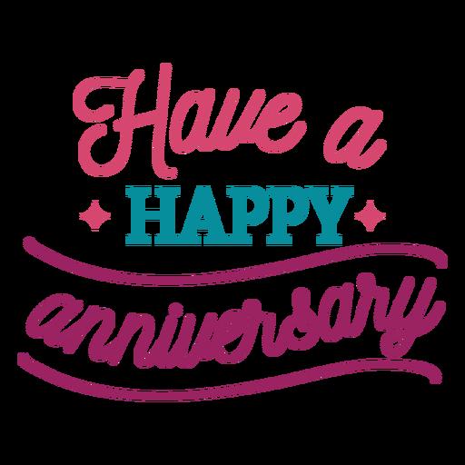 Tener feliz aniversario letras Transparent PNG