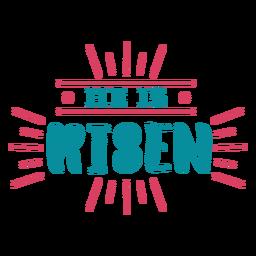 He is risen lettering