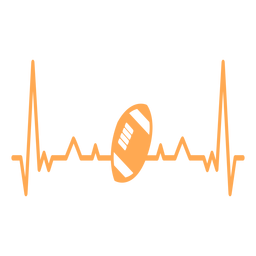 Heartbeat with american football ball