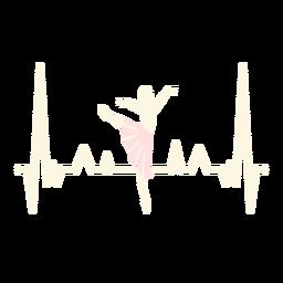 Batimentos cardíacos com bailarina