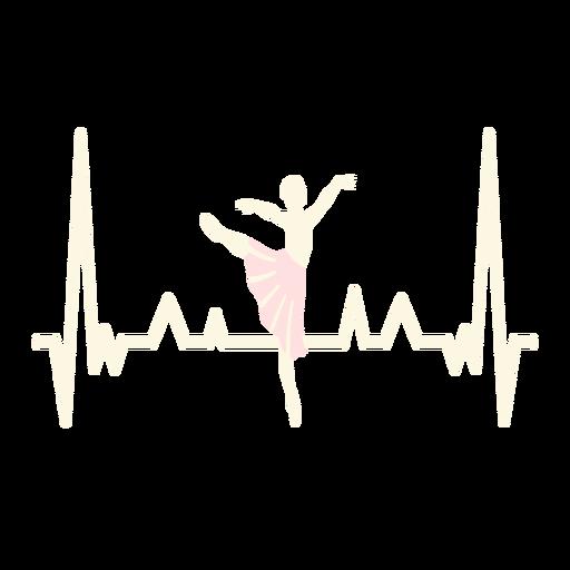 Batimentos cardíacos com bailarina Transparent PNG
