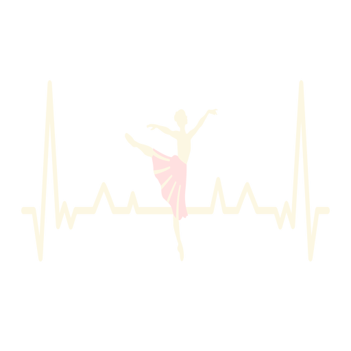Heartbeat with ballerina Transparent PNG