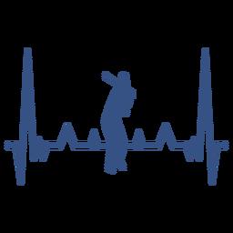 Batimento cardíaco com jogador de beisebol