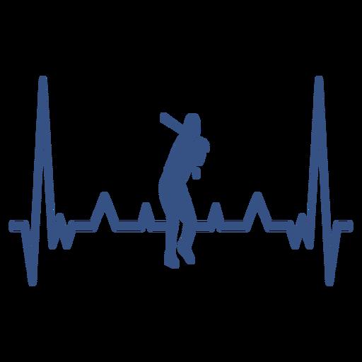 Latido del corazón con jugador de beisbol Transparent PNG