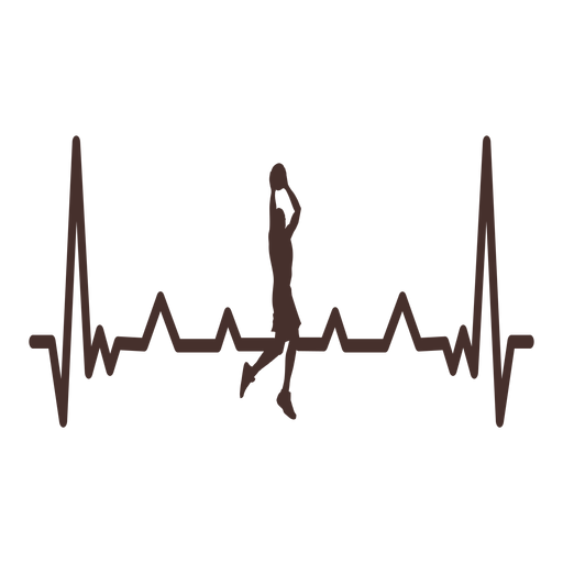 Heartbeat with basketball jam Transparent PNG