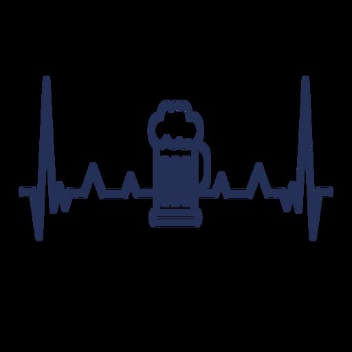 Batimento cardíaco com caneca de cerveja Transparent PNG
