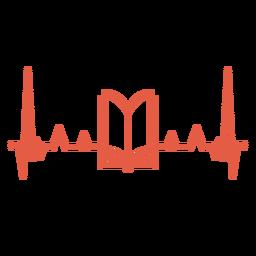 Batida do coração com livro