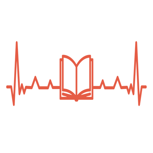 Heartbeat with book Transparent PNG
