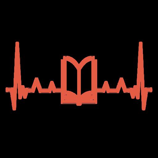 Latido del corazón con el libro Transparent PNG