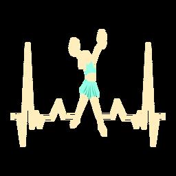 Latido del corazón con animadora