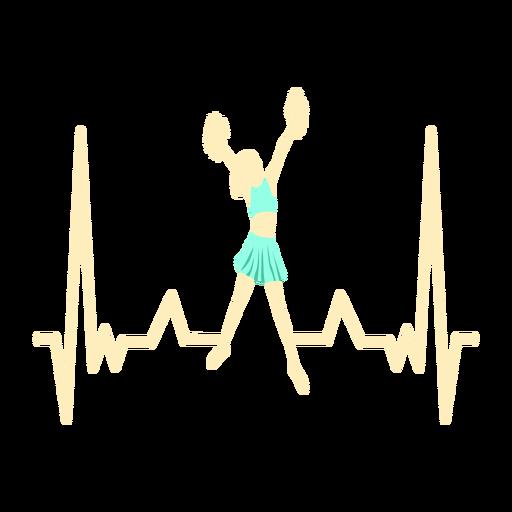 Batimento cardíaco com líder de torcida Transparent PNG