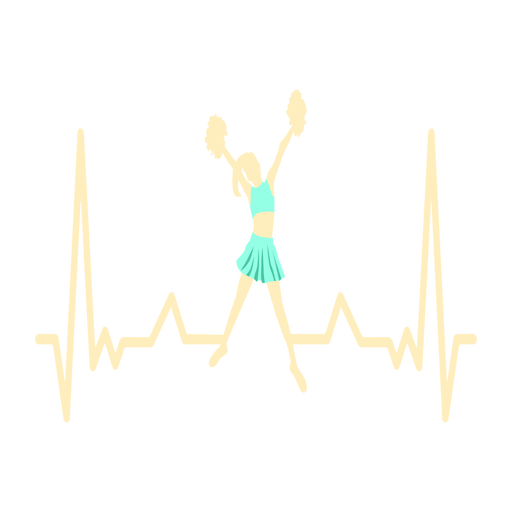 Heartbeat with cheerleader Transparent PNG