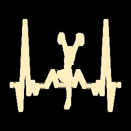 Batimento cardíaco, com, cheerleader, menina