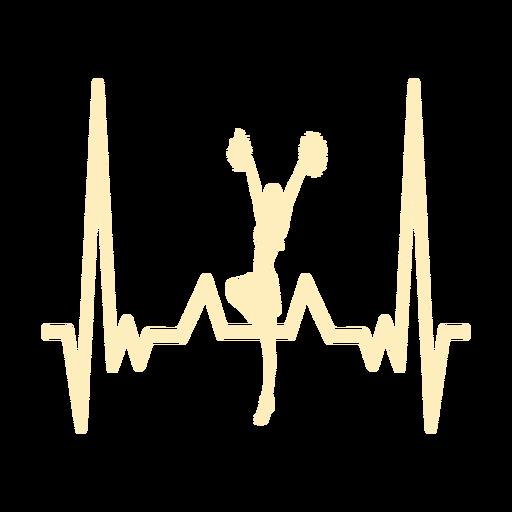 Batimento cardíaco, com, cheerleader, menina Transparent PNG