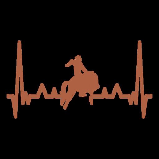 Batimento cardíaco com cowboy Transparent PNG