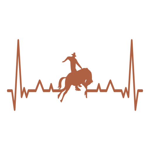 Heartbeat with cowboy Transparent PNG