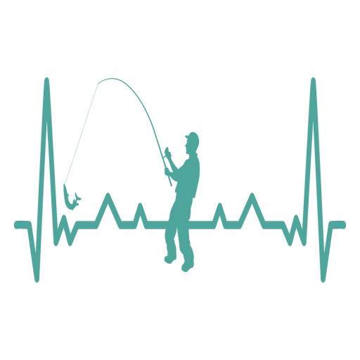 Heartbeat with fisherman Transparent PNG